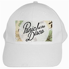 Panic At The Disco Beautifull Floral White Cap by Samandel