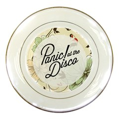 Panic At The Disco Beautifull Floral Porcelain Plates by Samandel