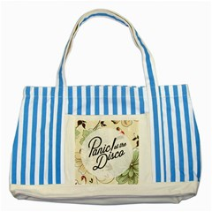 Panic At The Disco Beautifull Floral Striped Blue Tote Bag by Samandel
