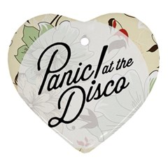 Panic At The Disco Beautifull Floral Heart Ornament (two Sides) by Samandel