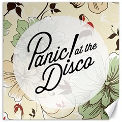 Panic At The Disco Beautifull Floral Canvas 16  X 16   by Samandel