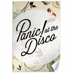 Panic At The Disco Beautifull Floral Canvas 24  X 36