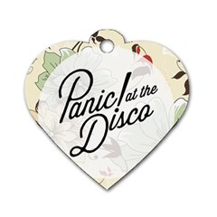 Panic At The Disco Beautifull Floral Dog Tag Heart (two Sides)