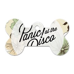 Panic At The Disco Beautifull Floral Dog Tag Bone (one Side) by Samandel