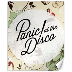 Panic At The Disco Beautifull Floral Canvas 11  X 14   by Samandel