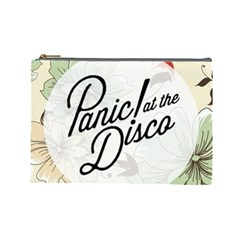 Panic At The Disco Beautifull Floral Cosmetic Bag (large)  by Samandel
