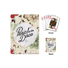 Panic At The Disco Beautifull Floral Playing Cards (mini)  by Samandel