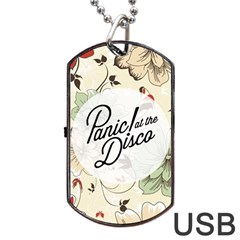 Panic At The Disco Beautifull Floral Dog Tag Usb Flash (one Side) by Samandel