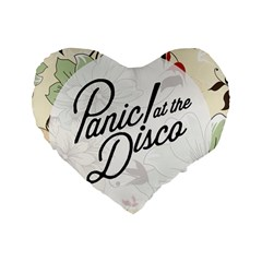 Panic At The Disco Beautifull Floral Standard 16  Premium Flano Heart Shape Cushions by Samandel