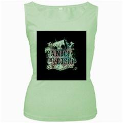 Panic At The Disco Art Women s Green Tank Top by Samandel