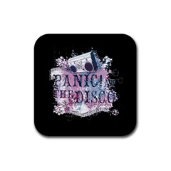 Panic At The Disco Art Rubber Coaster (square)  by Samandel
