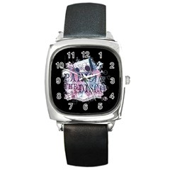 Panic At The Disco Art Square Metal Watch by Samandel