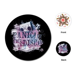 Panic At The Disco Art Playing Cards (round)