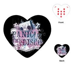 Panic At The Disco Art Playing Cards (heart)  by Samandel