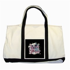 Panic At The Disco Art Two Tone Tote Bag by Samandel