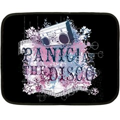 Panic At The Disco Art Double Sided Fleece Blanket (mini)  by Samandel