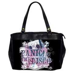 Panic At The Disco Art Office Handbags (2 Sides)  by Samandel