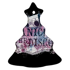 Panic At The Disco Art Christmas Tree Ornament (two Sides) by Samandel