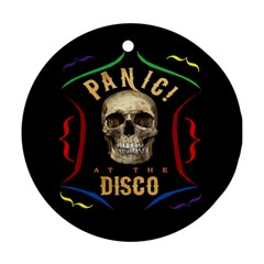 Panic At The Disco Poster Round Ornament (two Sides) by Samandel