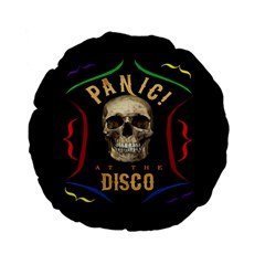 Panic At The Disco Poster Standard 15  Premium Flano Round Cushions by Samandel