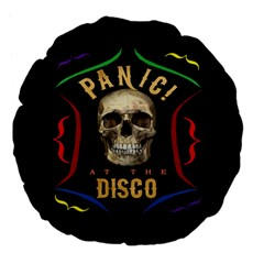 Panic At The Disco Poster Large 18  Premium Flano Round Cushions by Samandel