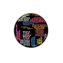 Panic At The Disco Northern Downpour Lyrics Metrolyrics Hat Clip Ball Marker by Samandel