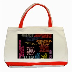 Panic At The Disco Northern Downpour Lyrics Metrolyrics Classic Tote Bag (red) by Samandel