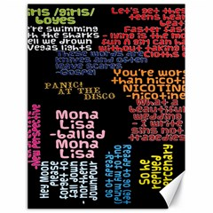 Panic At The Disco Northern Downpour Lyrics Metrolyrics Canvas 18  X 24   by Samandel