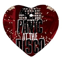 Panic At The Disco Poster Heart Ornament (two Sides) by Samandel