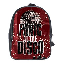Panic At The Disco Poster School Bag (large) by Samandel