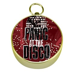 Panic At The Disco Poster Gold Compasses