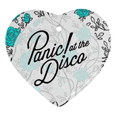 Panic At The Disco Quote Ornament (heart)