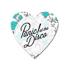Panic At The Disco Quote Heart Magnet by Samandel
