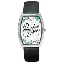 Panic At The Disco Quote Barrel Style Metal Watch