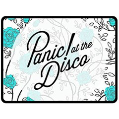 Panic At The Disco Quote Fleece Blanket (large)  by Samandel