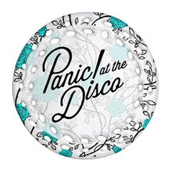 Panic At The Disco Quote Ornament (round Filigree) by Samandel