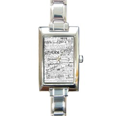 Panic At The Disco Lyrics Rectangle Italian Charm Watch