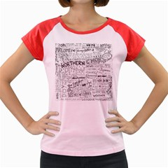 Panic At The Disco Lyrics Women s Cap Sleeve T Shirt by Samandel