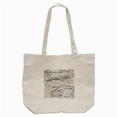 Panic At The Disco Lyrics Tote Bag (cream)