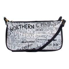 Panic At The Disco Lyrics Shoulder Clutch Bags by Samandel