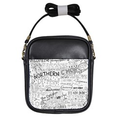 Panic At The Disco Lyrics Girls Sling Bags by Samandel