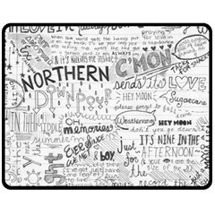 Panic At The Disco Lyrics Fleece Blanket (medium)