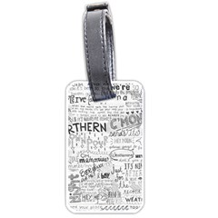 Panic At The Disco Lyrics Luggage Tags (one Side)  by Samandel