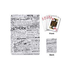 Panic At The Disco Lyrics Playing Cards (mini)  by Samandel