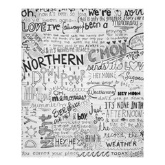 Panic At The Disco Lyrics Shower Curtain 60  X 72  (medium)  by Samandel