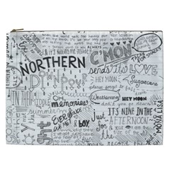 Panic At The Disco Lyrics Cosmetic Bag (xxl)  by Samandel