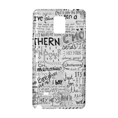 Panic At The Disco Lyrics Samsung Galaxy Note 4 Hardshell Case by Samandel
