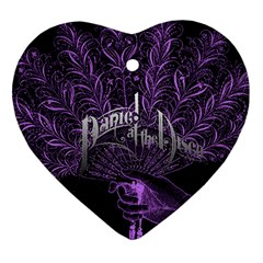 Panic At The Disco Heart Ornament (two Sides) by Samandel