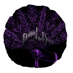 Panic At The Disco Large 18  Premium Flano Round Cushions by Samandel