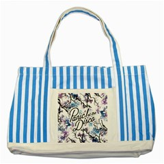 Panic! At The Disco Striped Blue Tote Bag by Samandel